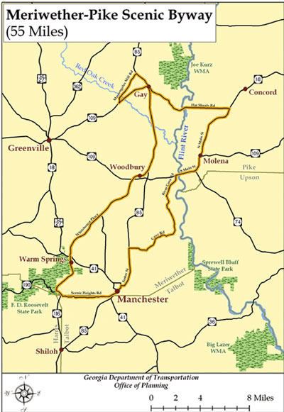 Meriwether Pike Scenic Byway Driving Tour