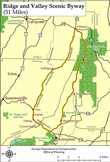 Ridge And Valley Scenic Byway Driving Tour Map