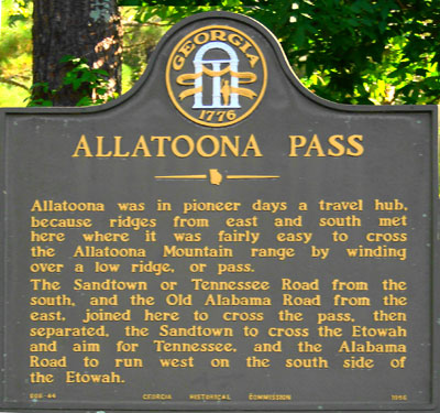 Allatoona Pass Marker