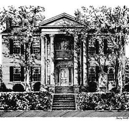 Marlor House Pen and Ink Drawing
