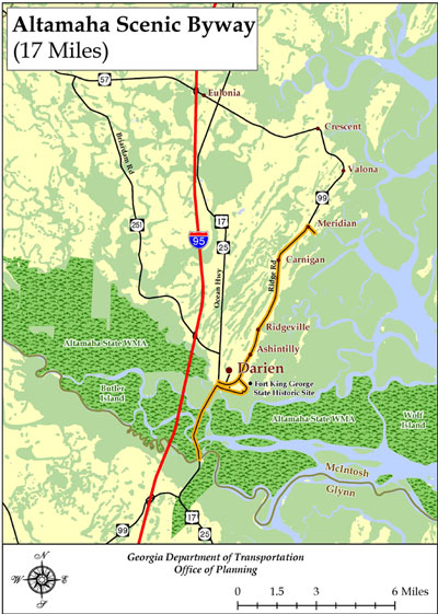 on darien georgia map
