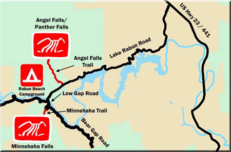 Minnehaha Falls Waterfall Map