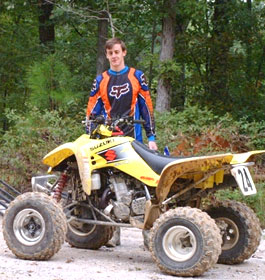 ATV Driver in Georgia US Forest