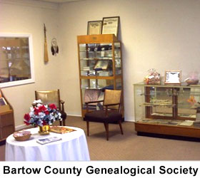 Bartow County Genealogical Society Displays
