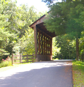 Bay's Covered Bridge up front