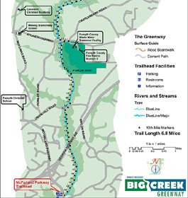 Big Creek Greenway Map