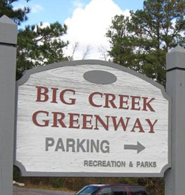 Big Creek Greenway Sign