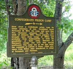 Blackshear Prison Civil War Camp Marker