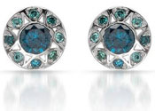 Sparkly Blue Diamond Earrings