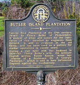 Historical Marker at Butler Island