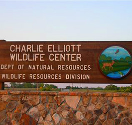 Charlie Elliott Wildlife Area Sign