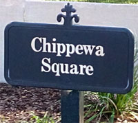 Chippewa Square Sign