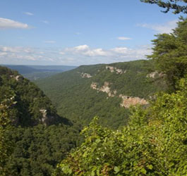 Mountains at Cloudland Canyon State Park