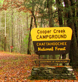 Cooper Creek Campground Entrance