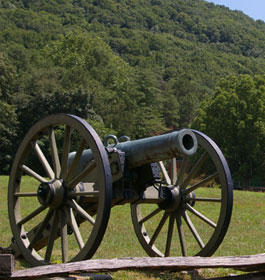 Civil War Cannon at Mountain