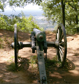 Civil War Cannon over Atlanta