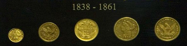 Gold Coins at Dahlonega Gold Museum