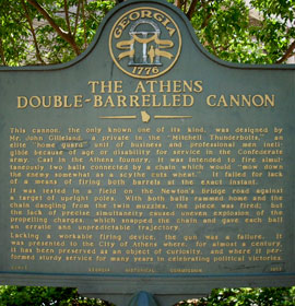 Double Barrel Cannon in Athens Georgia