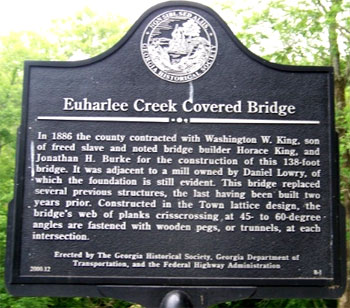 Euharlee Creek Covered Bridge Marker