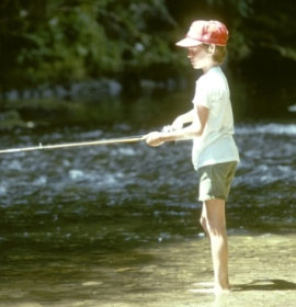 Fishing at the Georgia U.S. Forest