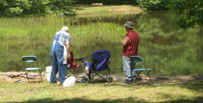 Fishing at Georgia U.S. Forest