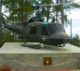 Fort Stewart Military Museum Helicopter Display
