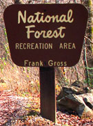 Frank Gross Recreation Area Sign