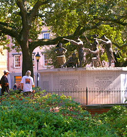 Franklin Square in Savannah Georgia