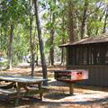 Picnic Pavilion at Fort McAllister Historic State Park
