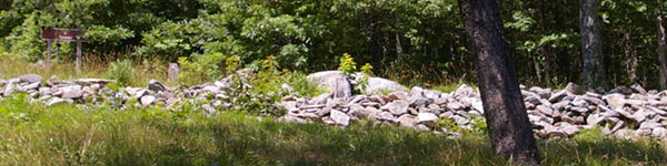 Historic Stone Wall at Fort Mountain State Park