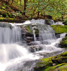 Waterfalls at Fort Mountain State Park