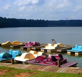 Lake and Paddle Boats at Fort Yargo State Park