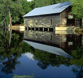 George Smith Covered Bridge at Lake
