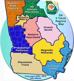 Georgia Maps Wwwngeorgiacom - Georgia map with regions