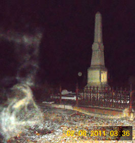 Ghost Strolling in Cemetery
