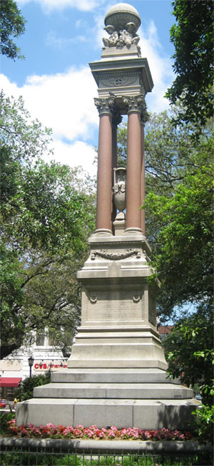 Gordon Monument in Wright Square