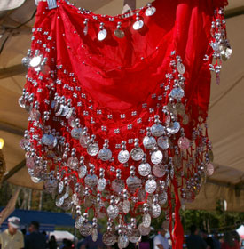 Pretty sparkly clothes at Greek Festival