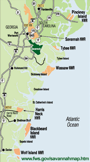 Harris Neck Wildlife Refuge Map