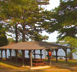 Lakeside Picnic Shelter at Hart State Outdoor Recreation Area
