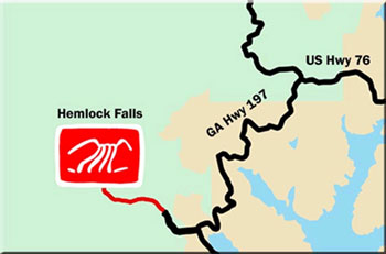 Hemlock Falls Waterfalls Map