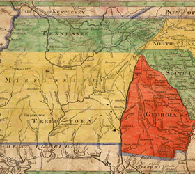 Historic Georgia Map