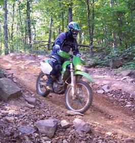 Houston Valley OHV Trails Cyclist