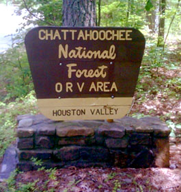 Houston Valley OHV Trails Sign