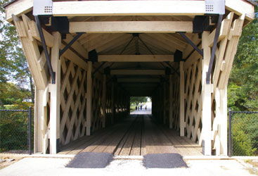 Hurricane Shoals Covered Bridge front view
