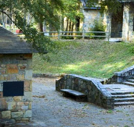 Historic buildings at Indian Springs State Park