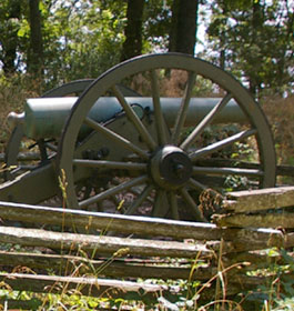 Civil War cannon in Kennesaw GA