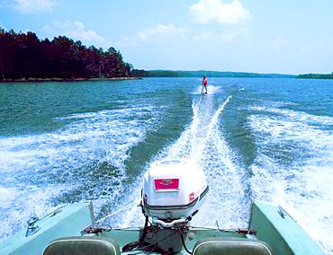 Skiing on Lake Oconee