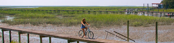 Biking at Little Tybee Island
