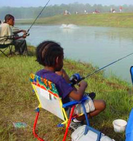 Fishing at McDuffie PFA