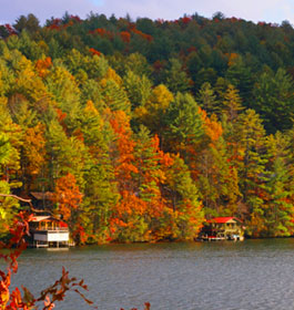 North Ga lake in fall